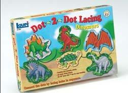 Dot-2-Dot Lacing Kit-Dinosaurs