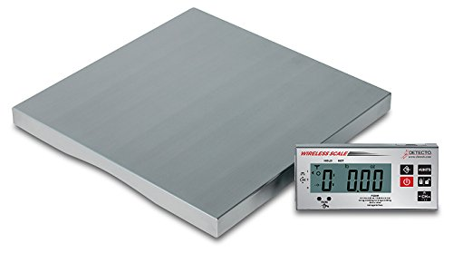 Detecto Stainless Steel Kitchen Scale - Detecto PZ60W Wireless Ingredient Scale, Includes AC Adapter, 1.6