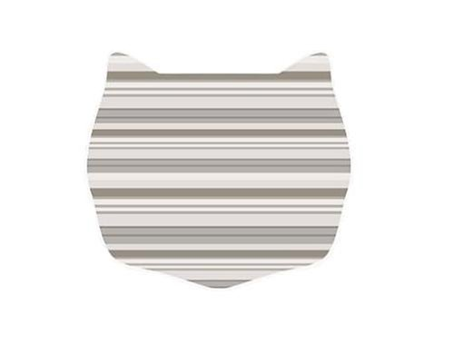 Cats Rule Small Space Mat, Neutral Stripe 663