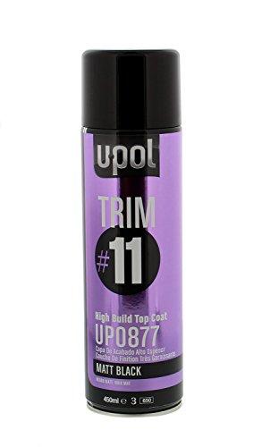 U-POL 0877 Trim#11 High Build Top Coat, Matte Black, 450 ml Aerosol