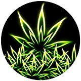 weed mouse pad - Marijuana Weed Leaf Colorful Nature Customized Round Non-Slip Rubber Mousepad Gaming Mouse Pad