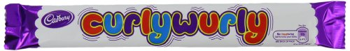 Cadbury Curly Wurly Candy, .9 oz, 60 count