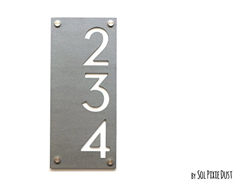 Modern House Numbers Concrete Acrylic