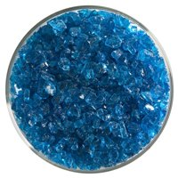 Turquoise Blue By Stallings Stained Glass 1 Lb Bullseye Coarse Transparent Frit Fuse It 90 Coe