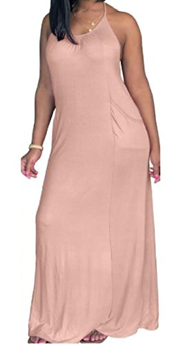 Coolred-femmes Couleur Pure Coupe Ample À L'arrière Des Robes Dos Nu Grand Pendule Sexy Taille Plus As1