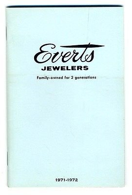 1971-72 Everts Jewelers 48 page Color Jewelry & Gift Catalog Dallas Texas