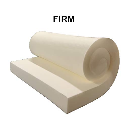 GoTo Foam 4'' Height x 24'' Width x 120'' Length 44ILD (Firm) Upholstery Cushion Made in USA by GoTo Foam