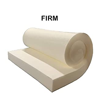 "GoTo Foam 3"" Height x 24"" Width x 120"" Length 44ILD (Firm) Upholstery Cushion Made in USA"