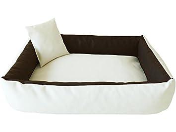 ELMO Perros sofá cama para perros Dormir Espacio Perros Cojín Cesta de piel sintética tamaño: S - 50 x 70 cm: Amazon.es: Productos para mascotas