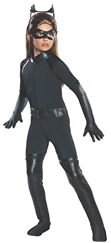 Superhero Halloween Costumes For Tweens (Batman Dark Knight Rises Child's Deluxe Catwoman Costume -)