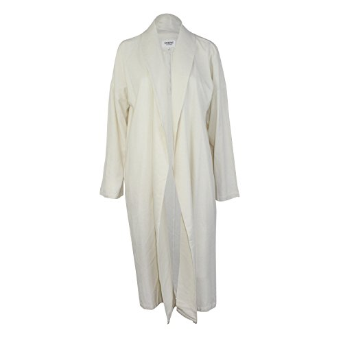 Evidnt Los Angeles Womens Maxi Long Sleeve Duster Ivory ()