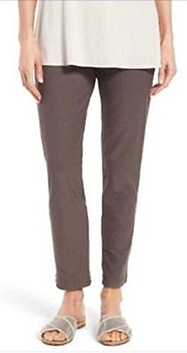Eileen Fisher Plus Cobblestone Washable Stretch Crepe Slim Ankle Pant Size 3X MSRP$178 ()