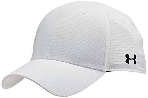 Under Armour Men's Head Referee Cap, White (100)/Black, Large/X-Large