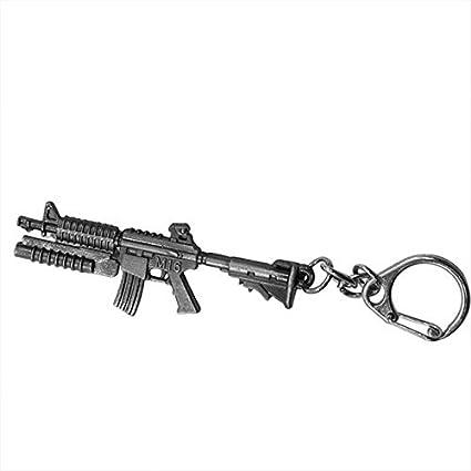 3D Simulación Pistola Colgante Llavero Cool Hombres Metal ...