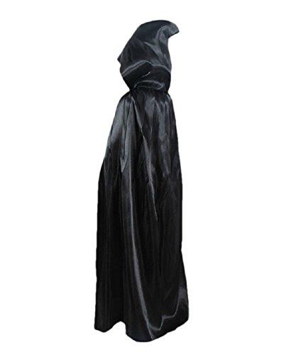 ZongSen Mantello con Cappuccio Diavolo Strega Robe Bambino Costume di  Halloween Felpa Cappotto Nero 140  Amazon.it  Abbigliamento abca9300b562