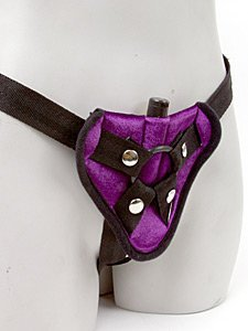 Sportsheets Vibrating Velvet Harness, Purple