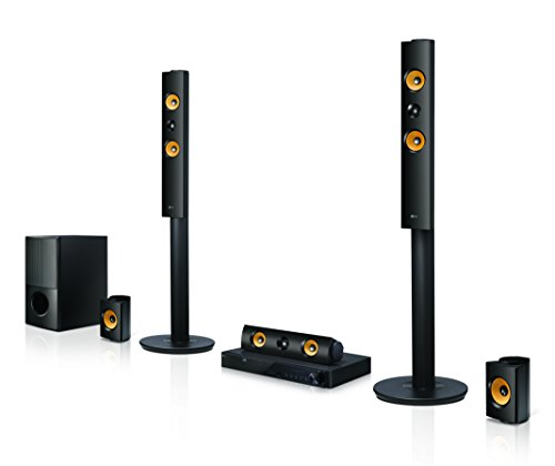 LG LHA845 5.1 3D Blu-ray Heimkinosystem (1200 Watt, WLAN, Smart TV, DLNA, Bluetooth, 1080p Upscaling) schwarz
