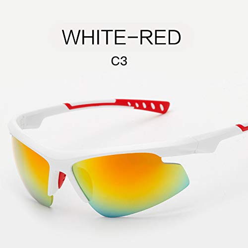 Deportivas Sol al sunglasses nbsp;Tendencia Mjia de nbsp;Gafas de WHITE nbsp;Sol de Aire Deportivas Libre REO Gafas Moda Hombre Gafas Negro Gafas Z0xq0w