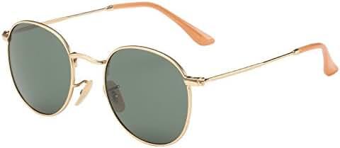 Joopin-Men Retro Brand Polarized Sunglasses Women Vintage Round Sunglasses