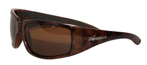 (BOMBER STINK-BOMBS MATTE TORTOISE Frame BROWN Lens wrap round 8 base 63mm Polarized Sunglasses)