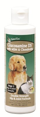"GARMON CORPORATION/NATURVET - GLUCOSAMINE DS WITH MSM LIQUID (8 OZ) ""Ctg: DOG PRODUCTS - DOG HEALTH - VITAMINS & SUPP"""