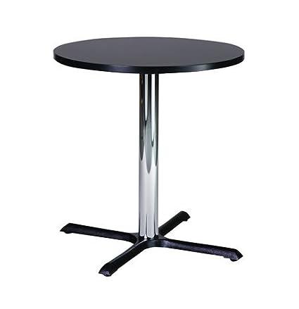 Pequeña cocina compacta Roza redonda mesa de comedor con Base de ...