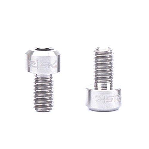 Cable Fixing Bolt (FREAHAP R Derailleur Cable Pinch Bolt 2PCs Titanium Screws for Fixing Cable)