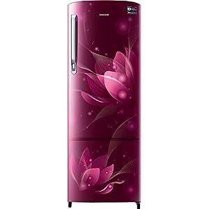 Samsung 225 L 3 Star Inverter Direct cool Single Door Refrigerator (RR26A375YCR/HL, Camellia Purple)