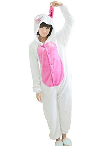 Adult Halloween Cosplay rabbit Animal Pajamas bunny Animal Onesie sleepwear (S (60