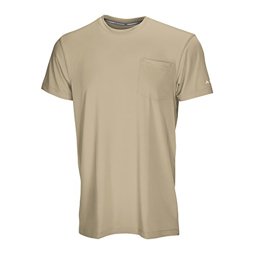 Arctic Cool Men's Pocket Workwear Instant Cooling Shirt with UPF 50+ Sun Protection, Khaki, XL by Arctic Cool