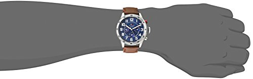 911dba63 Tommy Hilfiger Men's 1791066 Stainless Steel Watch with Brown Leather Band:  Amazon.co.uk: Watches