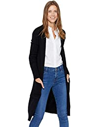 Mid-Length 100% Pure Cashmere Open Cardigan Long Sleeve Sweater for Women