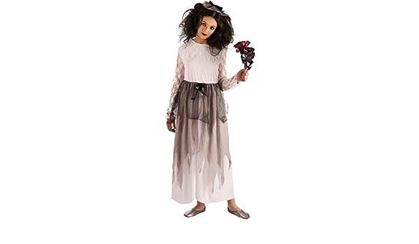Disfraz de Novia Cadáver para niña: Amazon.es: Juguetes y juegos