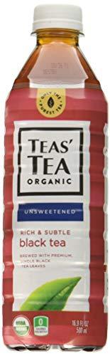 Teas' Tea Unsweetened Organic Black, 16.9 Ounce (pack Of 12)