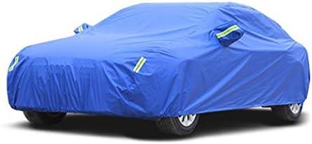 ホンダCR-Vの車のカバーと互換性があるオックスフォードの作り付けのリント車のカバー日曜日の保護雨車カバー (Color : Blue, Size : Built-in lint)