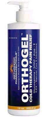 Orthogel - Cold Therapy Pain Relieving Gel - 16 oz Pump