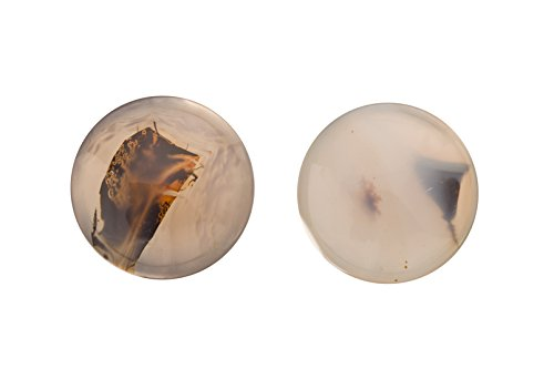 3pcs Clear agate cabochon 16mm Round gemstone