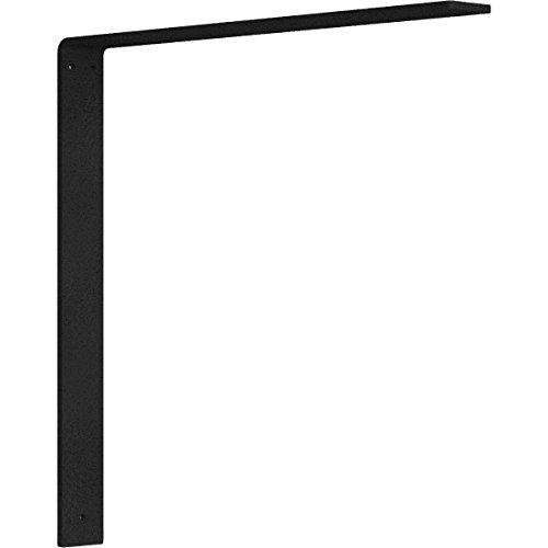 Ekena Millwork BKTM02X18X18HAHBL 2 inch W x 18 inch D x 18 inch H Hamilton steel Bracket, Hammered Black (18in Countertop)