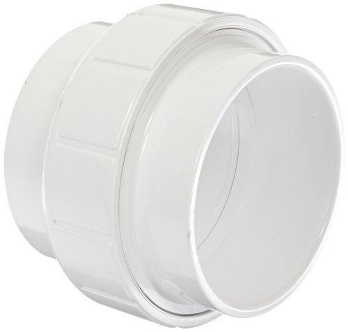 Spears 457 Series PVC Pipe Fitting, Union with Buna O-Ring, Schedule 40, 4