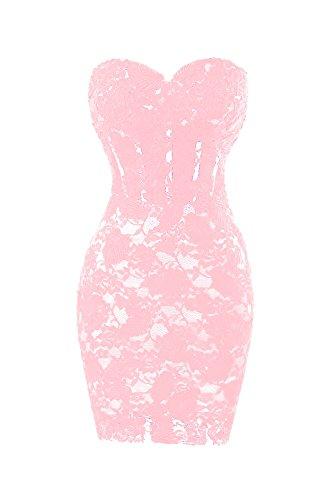 Bridal Party Dress Short Bess Lace Blushing Women´s Pink Mini Sexy Cocktail 0Zwd4Z