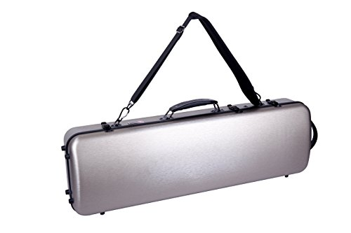 Oblong Pack - Crossrock CRF4000OVCH Oblong 4/4 Violin Case, Strong and Lightweight Carbon Composite exterior with Music Sheet Pocket and Backpack, Champagne