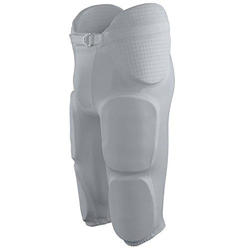 Augusta Sportswear BOYS' GRIDIRON INTEGRATED FOOTBALL PANT S Silver Grey