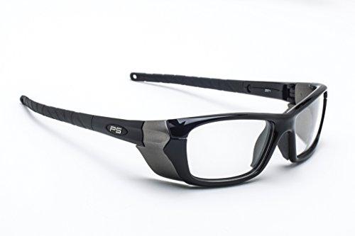 Designer Radiation Leaded Protective Eyewear in Full Rim Plastic Safety Frame - - Plastic Vs Frames Glasses Metal