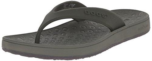 Bogs Men's Dylan Flip-Flop, Dark Green/Multi, 9 M US
