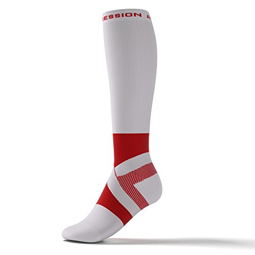 Avec Ankle Course Compression Chevillère Ccl1–blanc Support Running chaussettes De rouge Active Wg50UOPBO