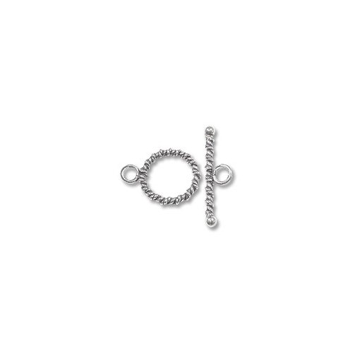 Twisted Rope Toggle Clasp 14mm Sterling Silver (Set) ()