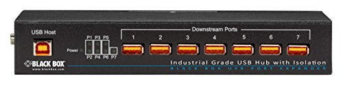Black Box Industrial USB 2.0 Hub with Isolation, 7-Port by Black Box