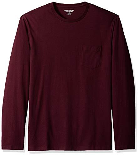 Burgundy Pocket Tee - Amazon Essentials Men's Regular-Fit Long-Sleeve Pocket T-Shirt, Burgundy, X-Large
