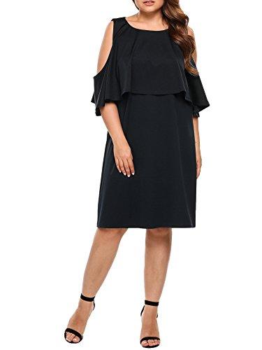 会社子供っぽいまとめるIN'VOLAND DRESS レディース US サイズ: XXXL カラー: ブラック