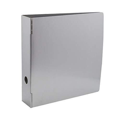 Bindertek 3-Ring 3-Inch Heavy Duty Metal Binder, Silver (MTBIND-EF)